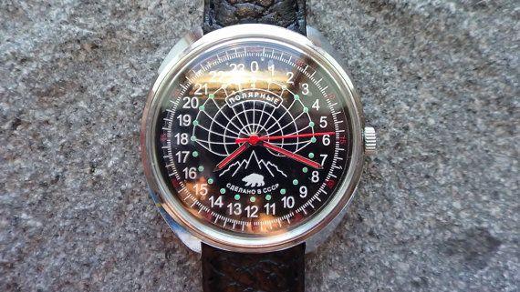 ca87174e269 Raketa Russian 24 hour NOS mechanical man watch. He has been lying in watch  for nearly half a day now