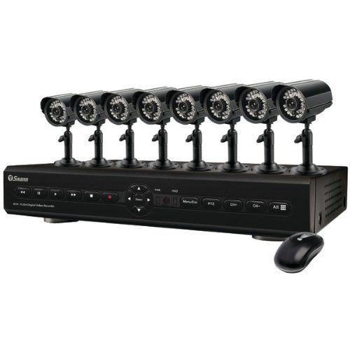 SWANN SWDVK-825508C 8-CHANNEL DVR WITH 8 CMOS CAMERAS