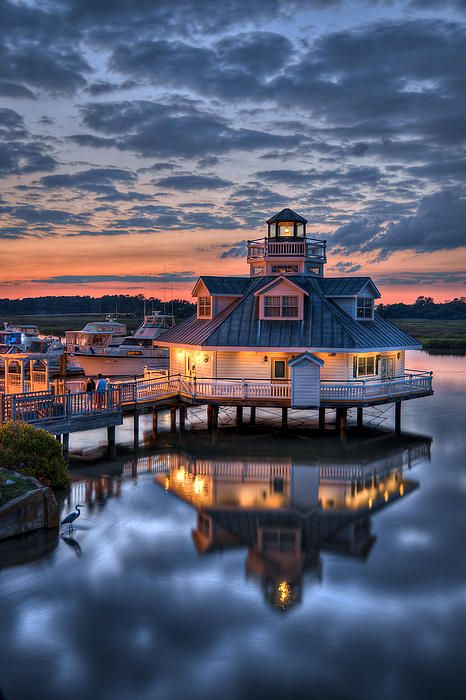 Bird And Sundown On The Pagan River Rivers Virginia And Lighthouse