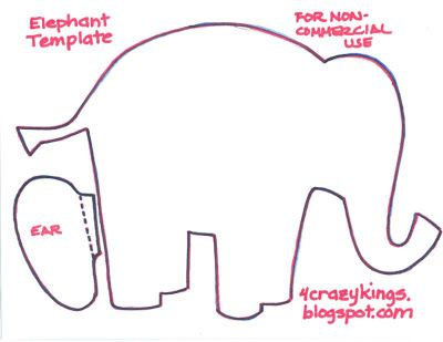 Elephant Cut Out Templates | Elephant Template Printable | Baby ...