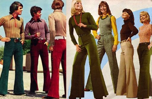 Moda Lata 70 Dzwony Flare Pants 70 S Fashion Hippie Wear