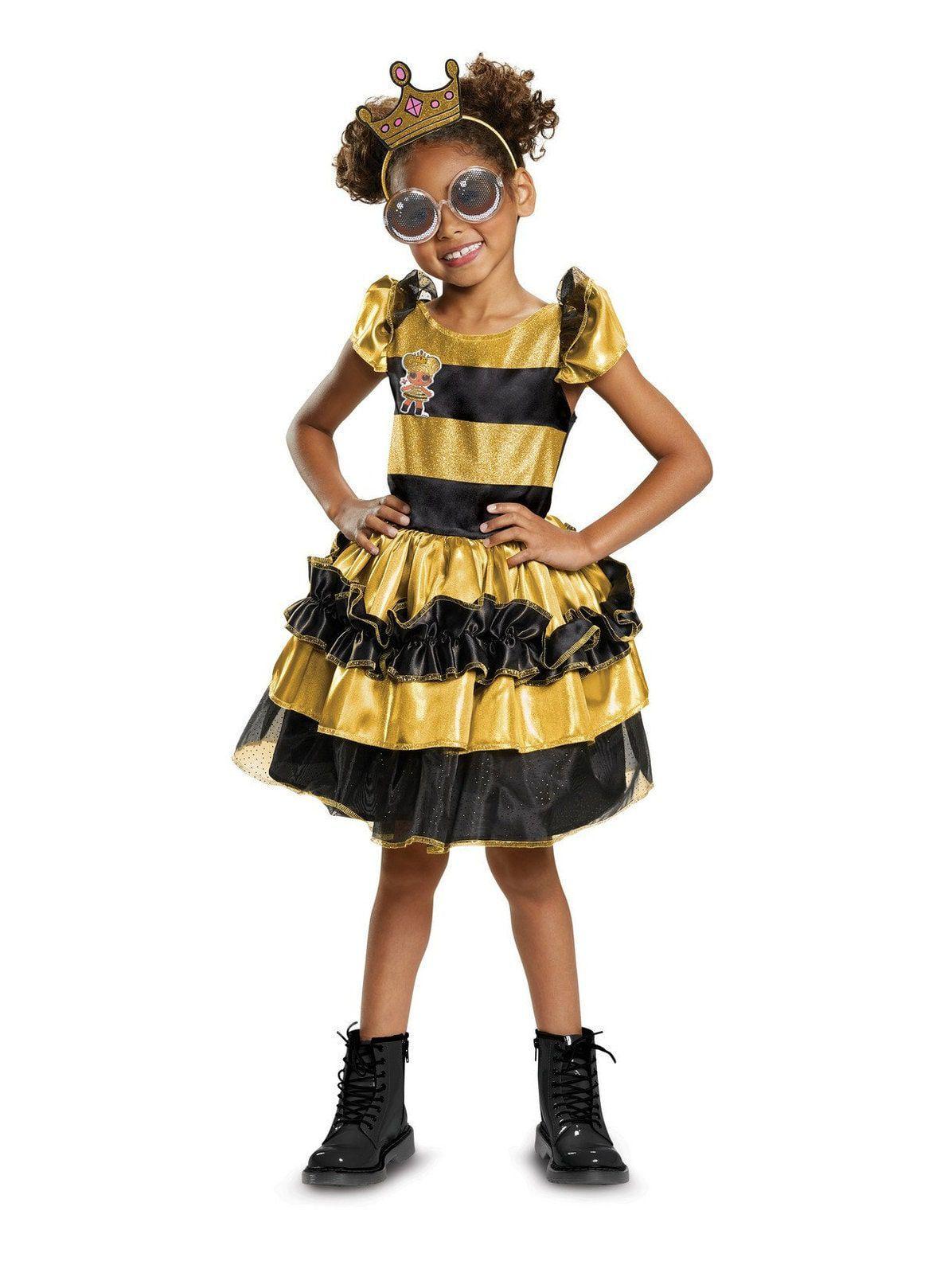 BUZZ BUZZ BEE TODDLER KIDS FANCY DRESS GIRLS PARTY COSTUME 2-4 YELLOW