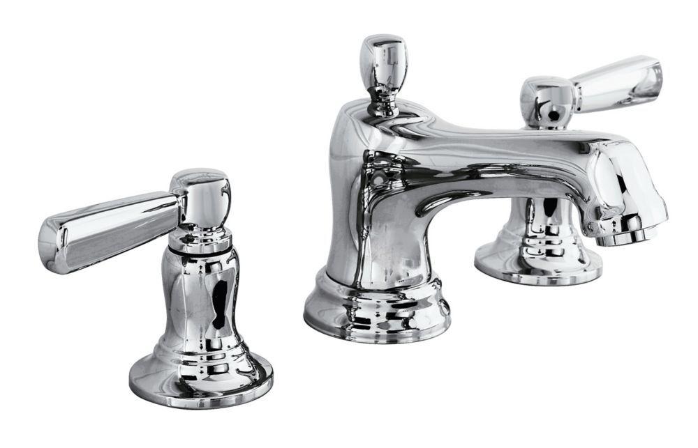 Bancroft 8 Inch Widespread 2 Handle Low Arc Bathroom Faucet In