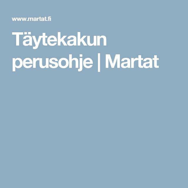 Täytekakun perusohje | Martat