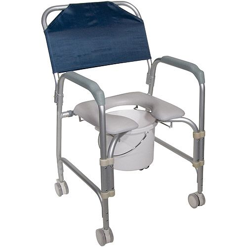 Lightweight Portable Shower Chair Commode with Casters Review Buy Now