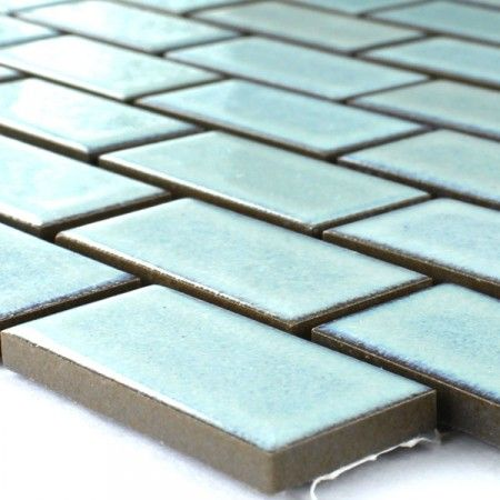 keramik mosaik fliesen 22x47x6mm t rkis matt uni badezimmer bathroom und turquoise. Black Bedroom Furniture Sets. Home Design Ideas