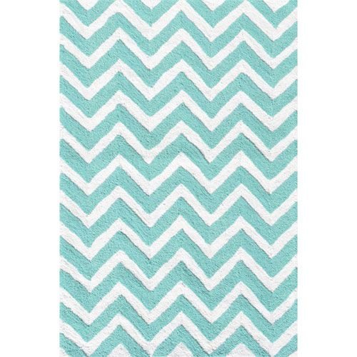 Chevron Teal And White Rug From Poshtots Chevron Rugs Teal Nursery Handwoven Rugs