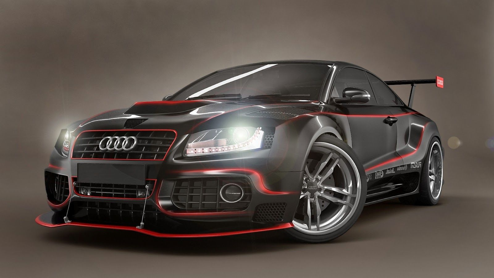 Body Kit Audi S5 Modified Body Kit Red Lines Hd Wallpaper Hd