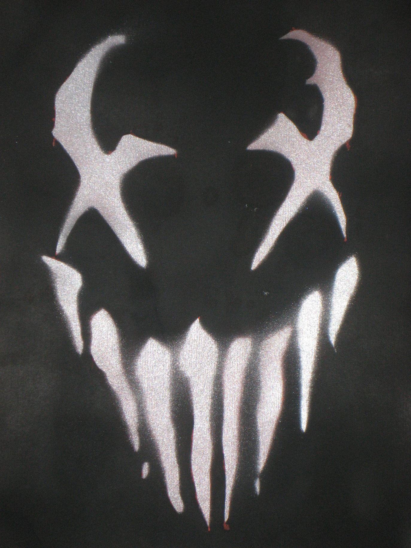 Venom Face Stencil