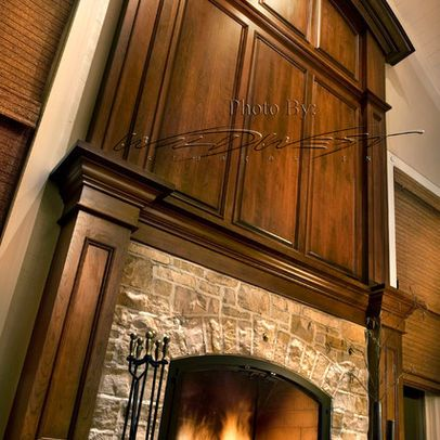 Wood Fireplace Surround Design, Pictures, 16' tall by 8.5 ...