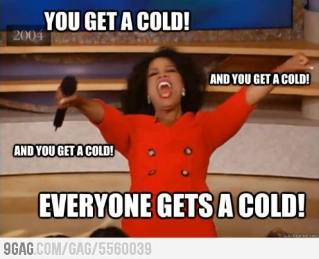 How I feel as the first sick person at school.