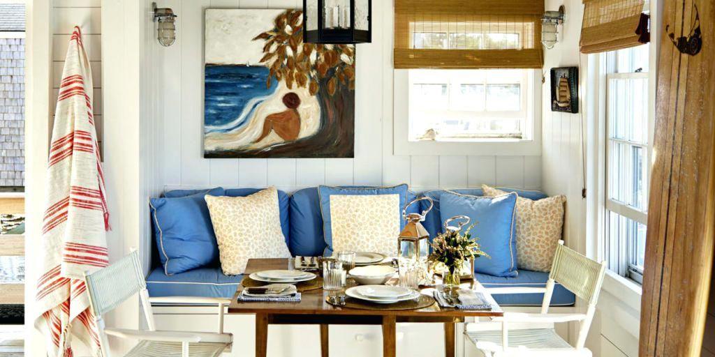 Strandhaus, das Ideen-Fotos verziert Innenarchitektur 2018 Pinterest - deko ideen vorhange wohnzimmer