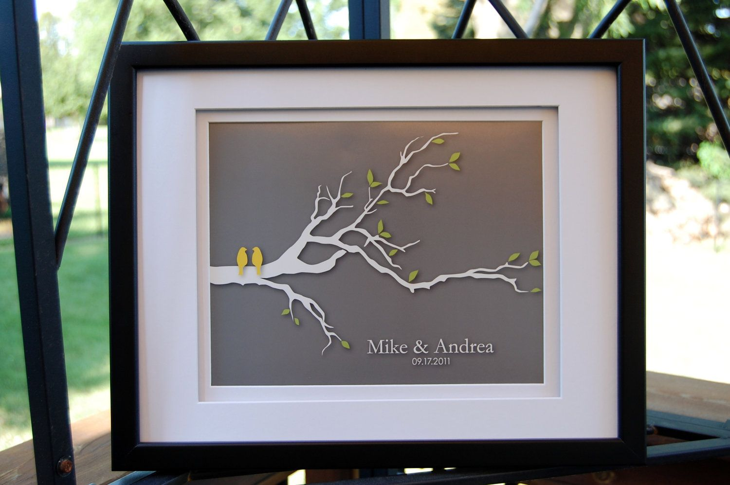 Personalized Custom Wedding Love Birds Family Tree Branch Valentine S Day Gift Art