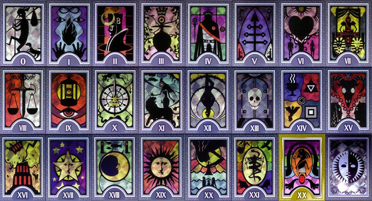 Persona Tarot Cards Cleaned Up And Organized For Your