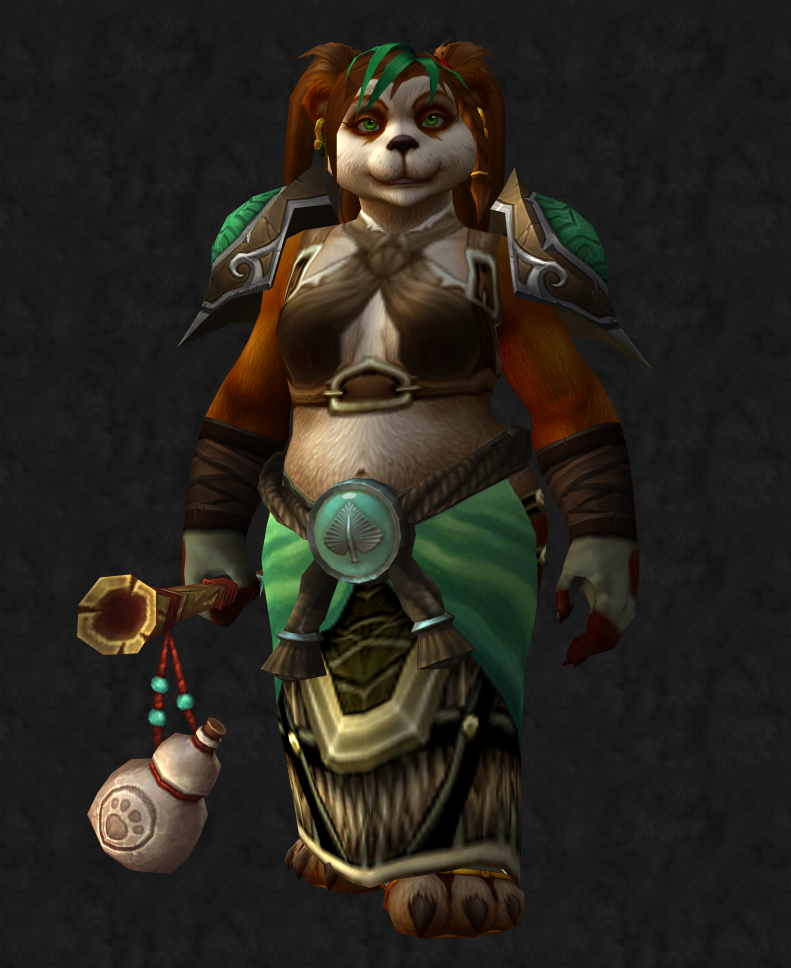 Female Pandaren Monk Transmog Super Cool World Of Warcraft Weapons
