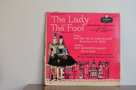 The LADY and the FOOL lp cover art. by thevintageholicfrog on Etsy, $12.00