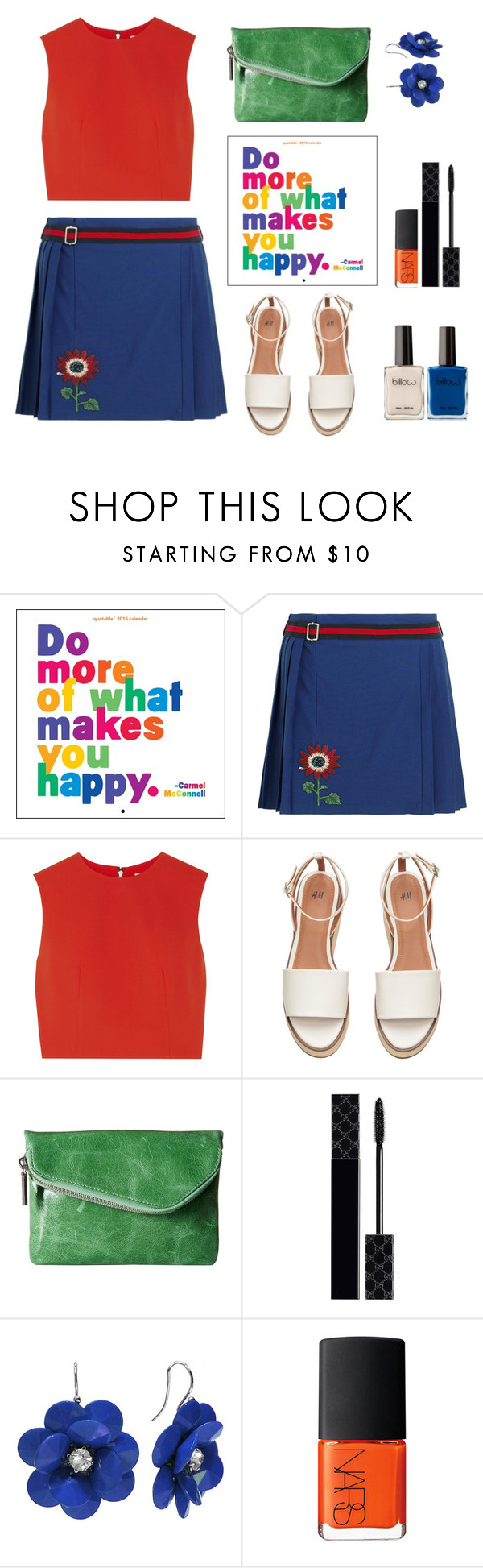 """""""Happy colors ."""" by gul07 ❤ liked on Polyvore featuring Gucci, Alice + Olivia, HOBO and NARS Cosmetics"""