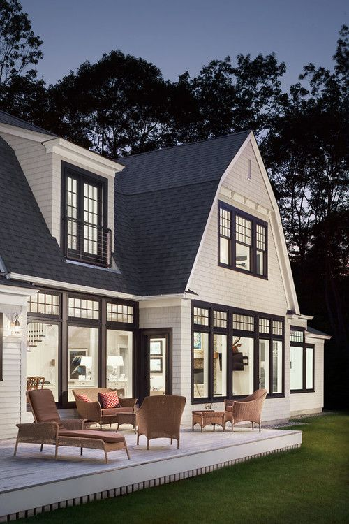 Exterior By Bowley Builders | White Shutters With Black Trim | Exterior  Home Design Ideas | Backyard Ideas | Beach Home Exterior