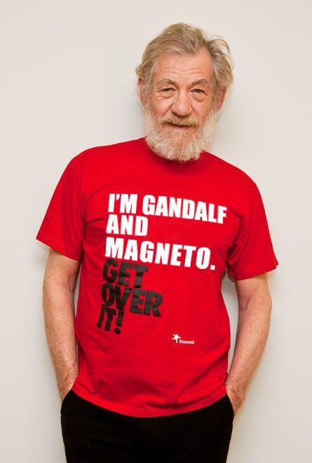 Ian McKellen | Ian mckellen, Love actually, Geek shirts