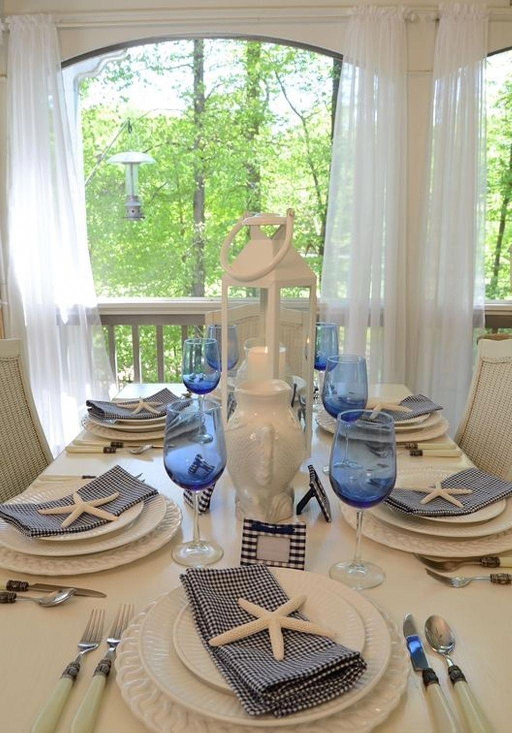 #CoastalStyle   Nautical dining rooms, Coastal dining room ...