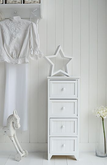 The Maine slim chest of drawers in white bedroom furniture for ...