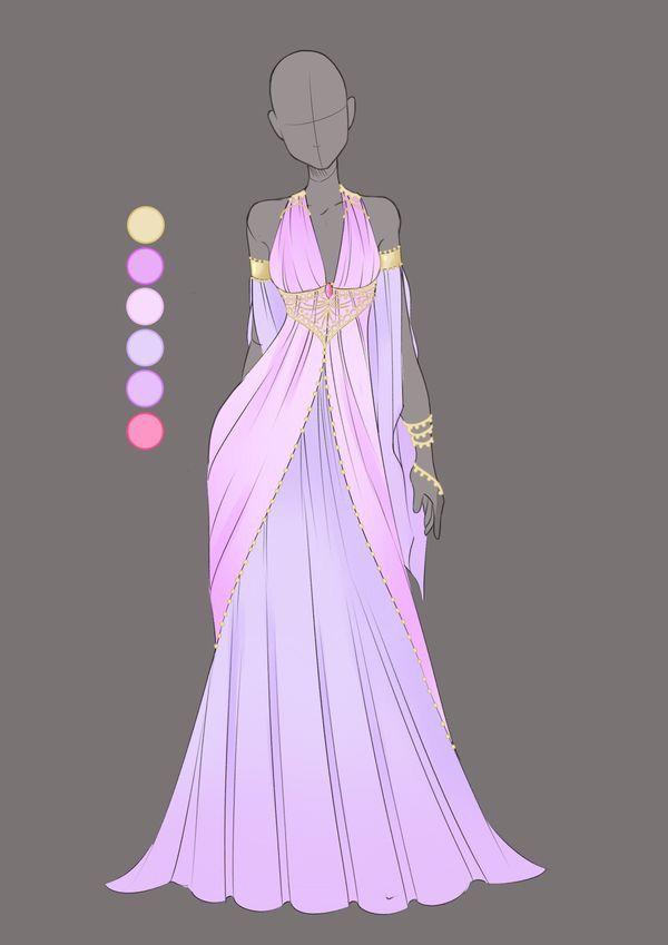 Robe violette | Rp | Pinterest | Ropa, Dibujo y Vestiditos