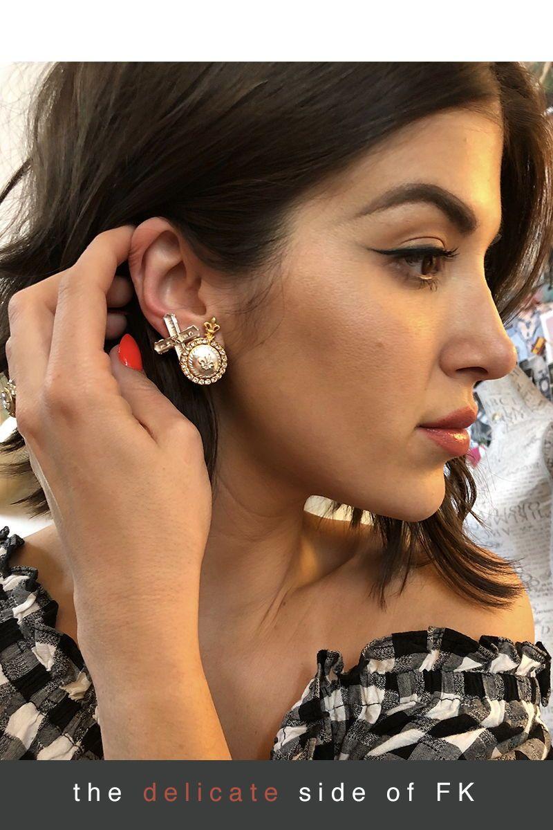 Petite French Kiss Earrings Silver Petite Jewelry Earrings Luxury Jewelry Brands