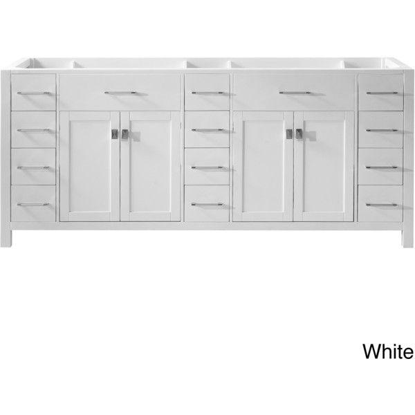 VIRTU Caroline Parkway 78 Inch Double Sink Bathroom Vanity Cabinet (1,445  CAD) ❤