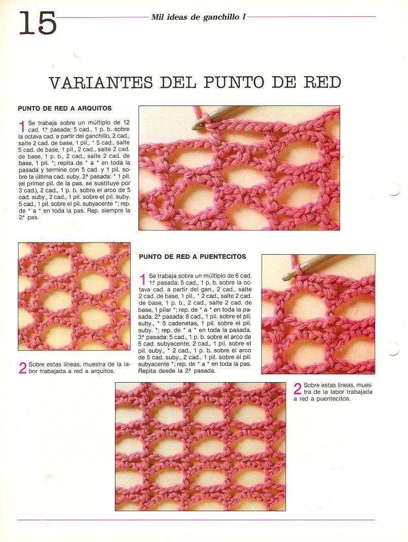 calado   Crochet Puntos   Pinterest   Redecilla, Patrones y Puntos