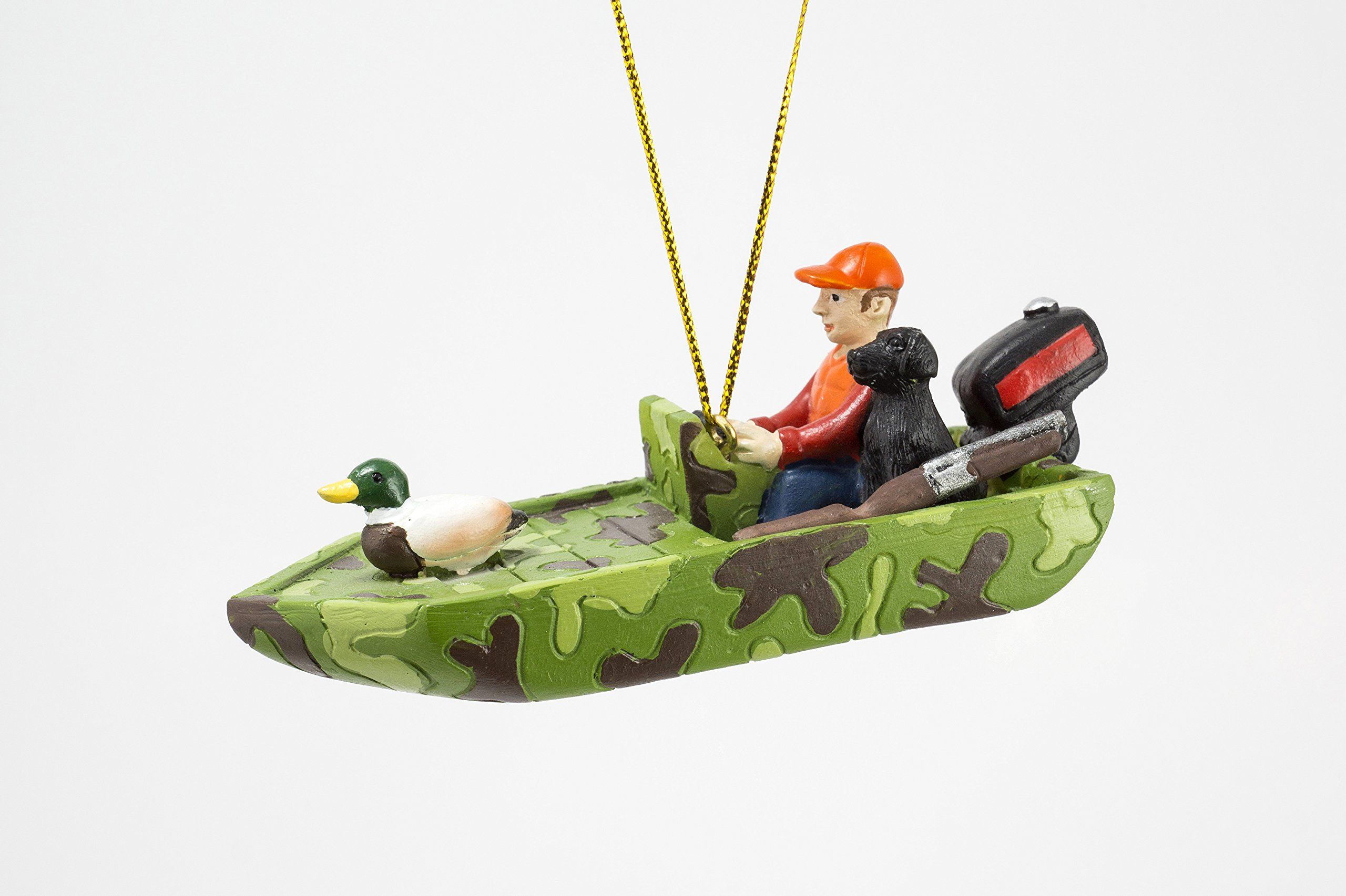 Duck hunting boat ornament duck hunting boat holiday