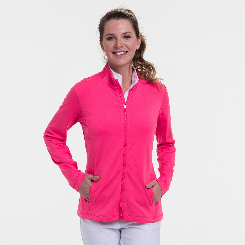 Long Sleeve Brushed Jersey Jacket - FRUIT PUNCH / S