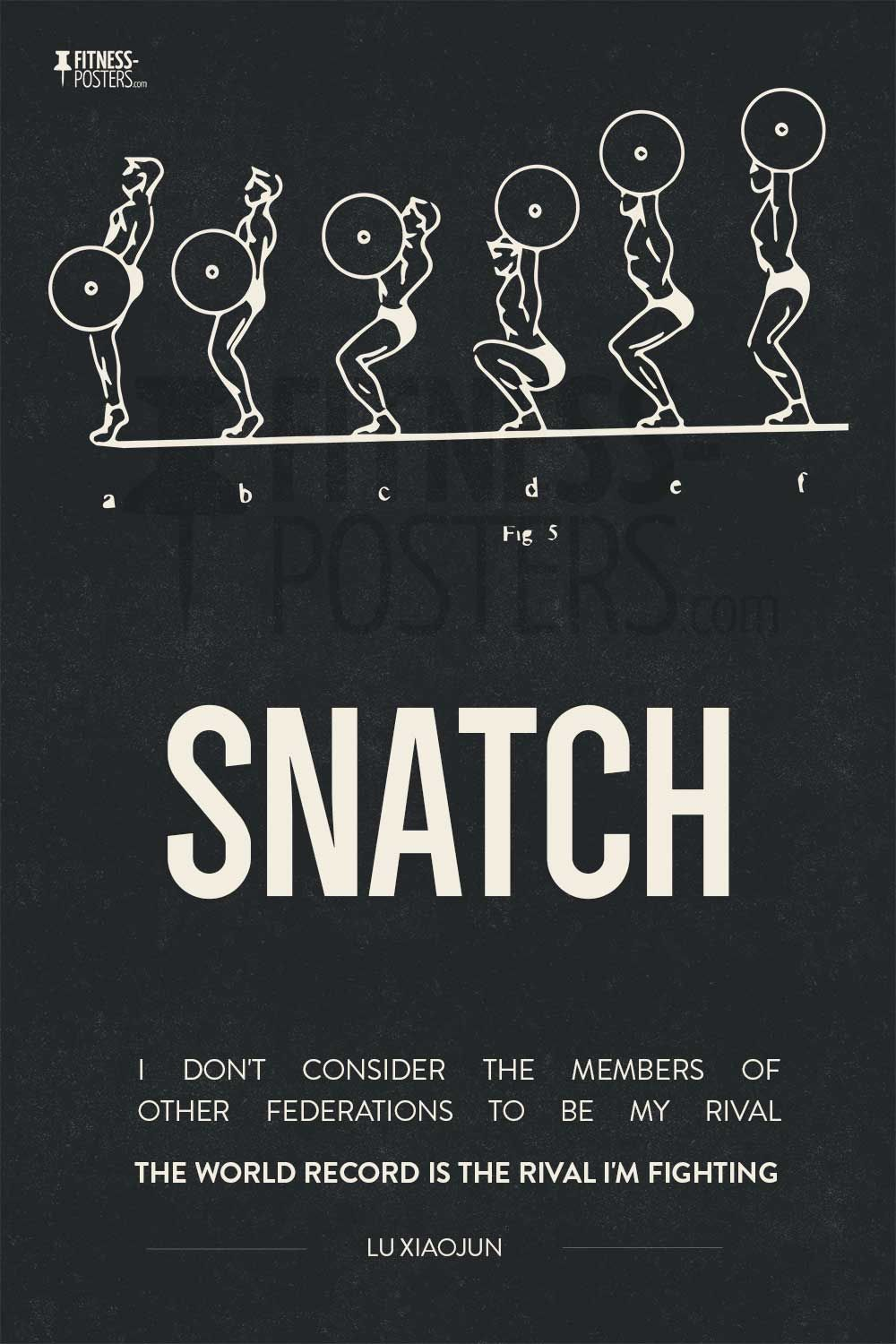 Olympic weightlifting snatch technique poster featuring a - Powerlifting quotes ...
