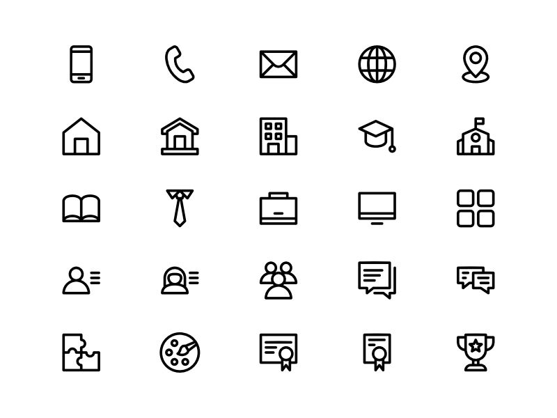 resume    cv icon set