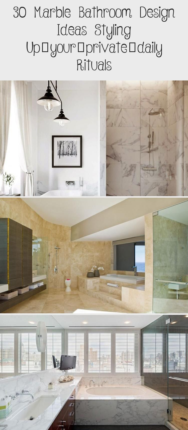 30 Marble Bathroom Design Ideas Styling Up Your Private Daily Rituals In 2020 Marble Bathroom Designs Bathroom Design White Marble Bathrooms