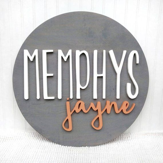 18 Round Custom Name Wood Sign | Baby Name Sign | Nursery name sign | Nursery room decor| Wood Name Sign | Round Wood Sign | Baby Show Gift
