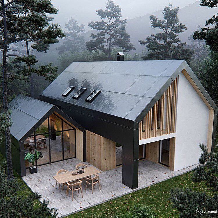 House goals follow for more mini chalet arquitectura casas casas for Maison toit pointu