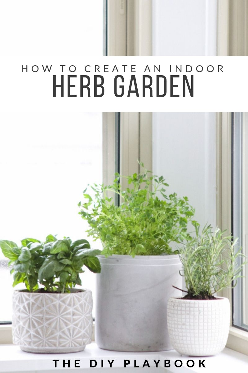 How To Create A Fresh Herb Garden With Images Indoor Herb