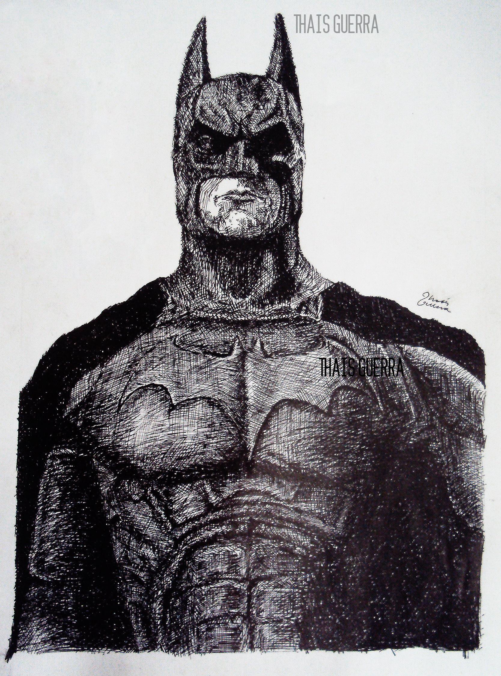 Batman Feito Com T Cnica De Nanquim Em Bico De