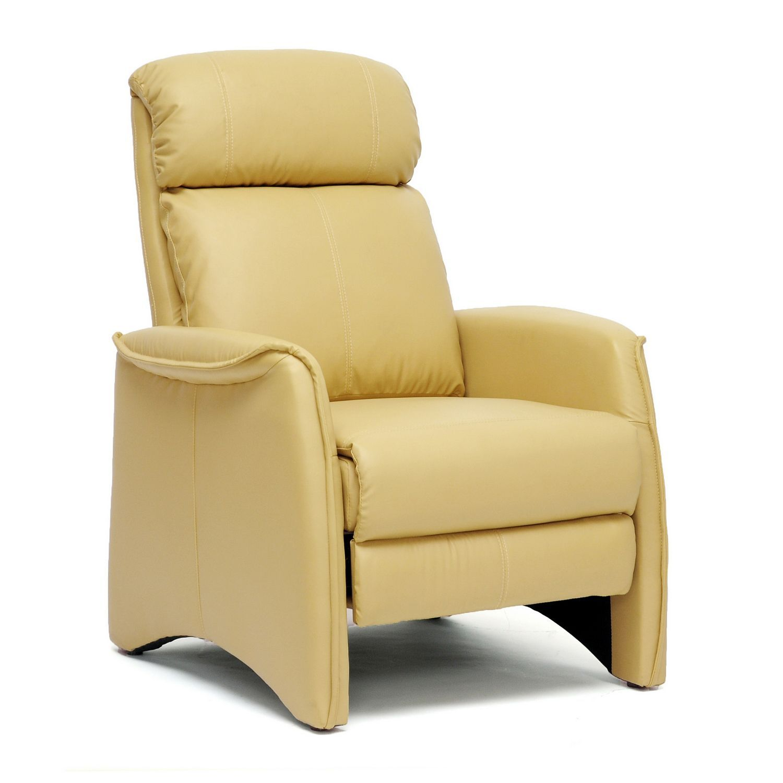 Baxton Studio Aberfeld Tan Modern Recliner Club Chair Beige Tan Modern Recliner Leather Recliner Chair Recliner