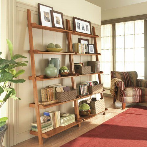 Living Room And Kitchen Stage By Synergy Staging: My Neighbors Have One Of These Leaning Ladder Shelves And