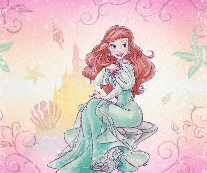 アリエル ディズニー プリンセス ドレス イラスト , ぬりえキッズ