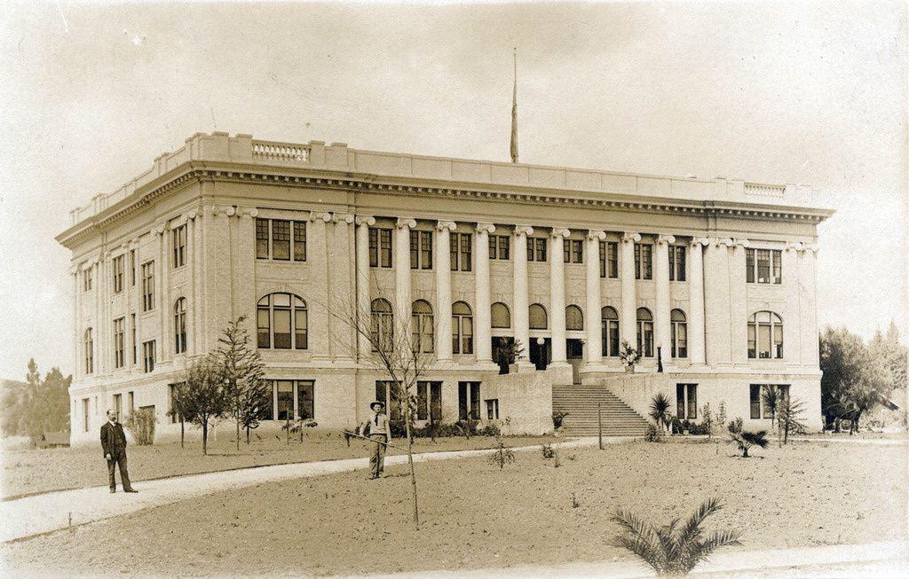 Postcard South Pasadena High School 1908 South Pasadena Pasadena San Gabriel Valley