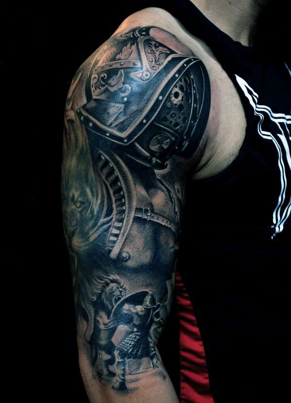 Top 53 Best Arm Tattoo Ideas 2020 Inspiration Guide Arm Tattoos For Guys Tattoos For Guys Gladiator Tattoo