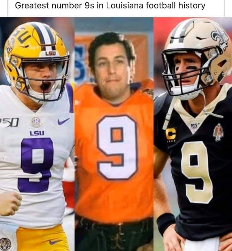 The Louisiana 9s In 2020 Lsu Tigers Football Lsu Football Funny Football Pictures