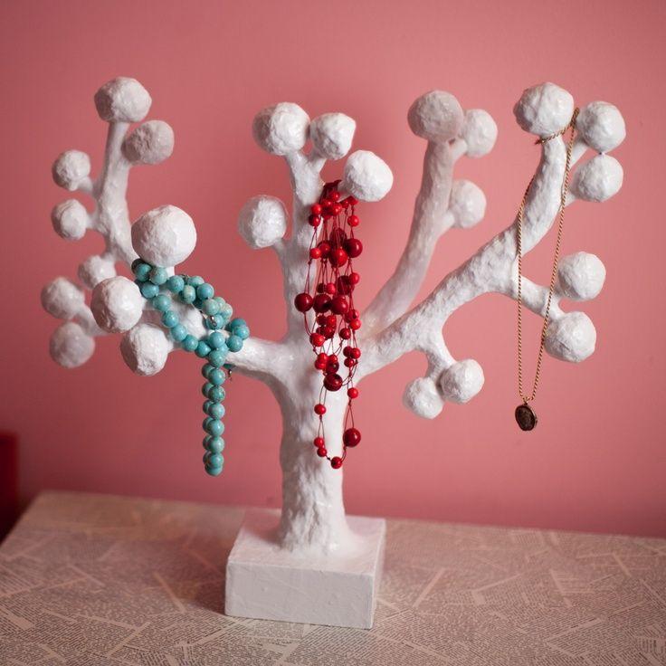 Paper Mache Trees Paper Mache Jewelry Tree Jewelry Tree Tree Jewelry Holder Handmade Market