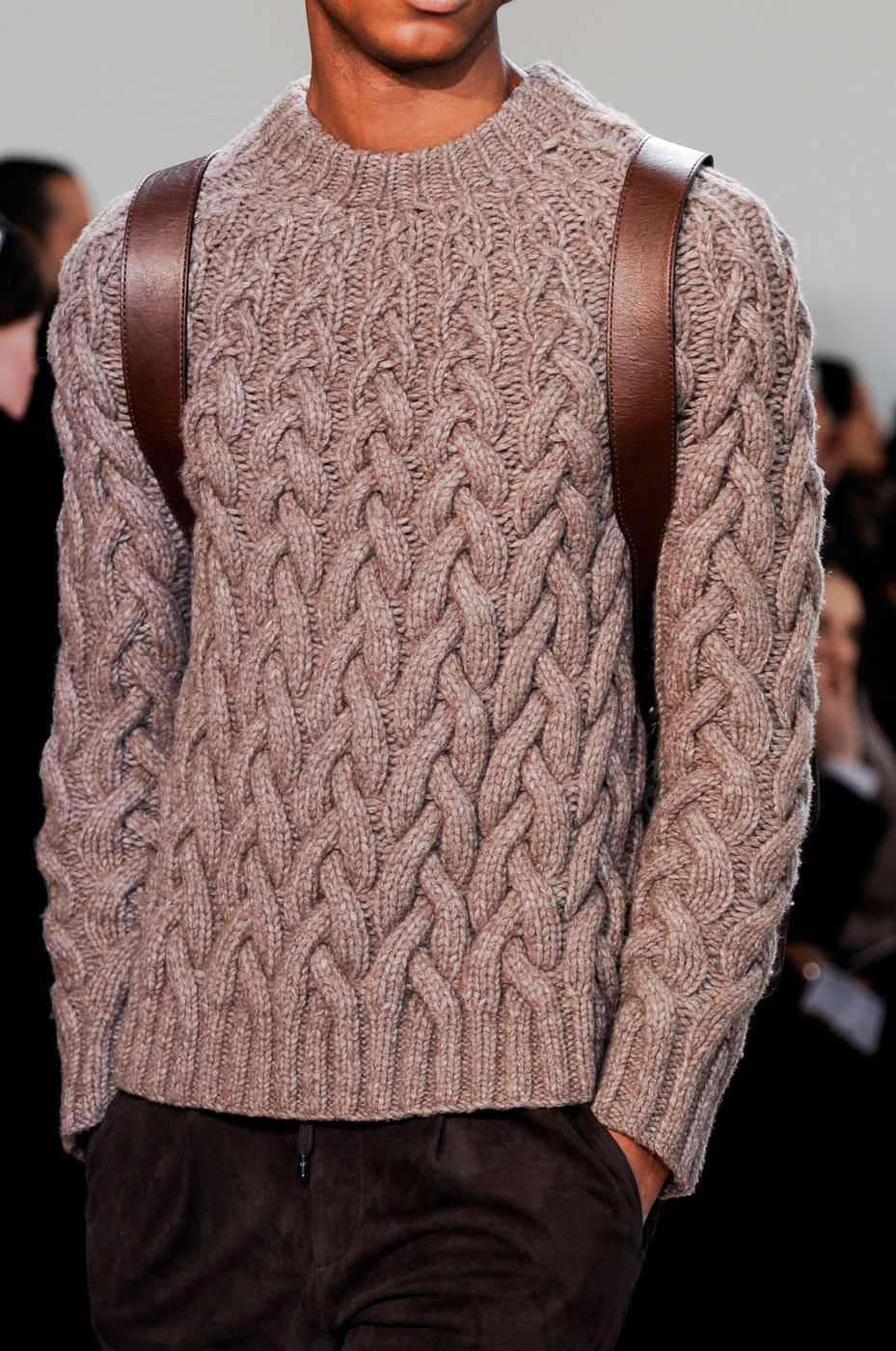 Michael Kors at New York Fashion Week Fall 2014 | Cable sweater ...