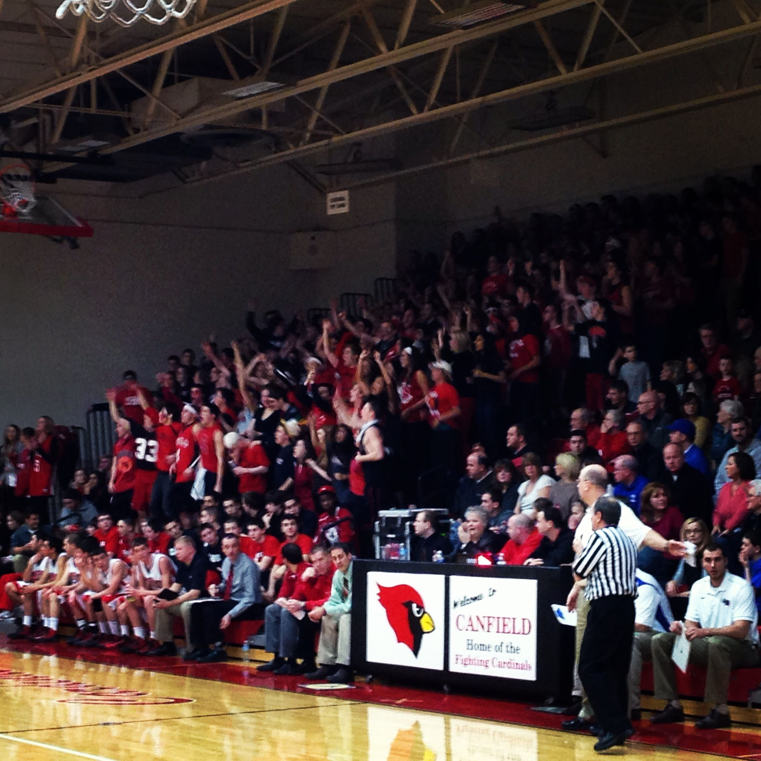 The crowd tonight at the sold out PolandCanfield boys