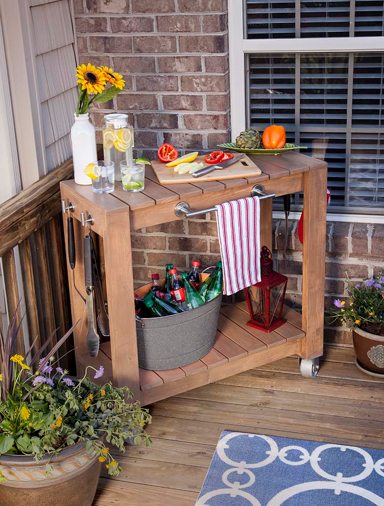 DIY Rolling Prep and Serve Cart The Home Depot Blog