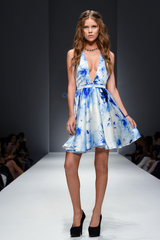 Ocean classic blue watercolor print ball dress dress pinterest