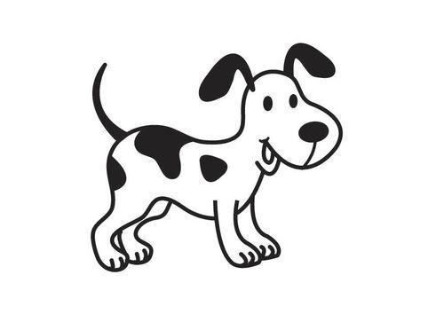 Kleurplaat Hond Dieren Coloring Pages Dogs Cats